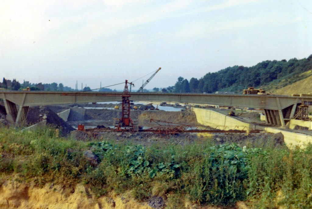 Le pont de Ronquières en construction