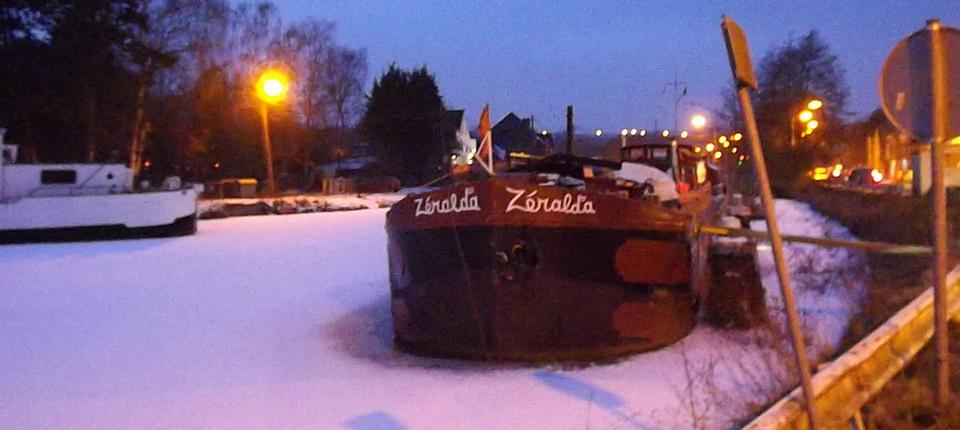 Une nuit hivernale à Ronquières