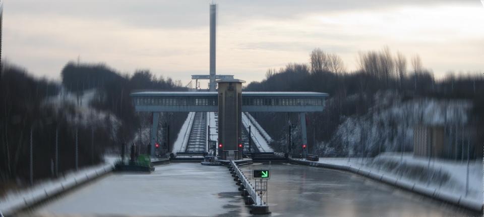 Le port aval dans le froid
