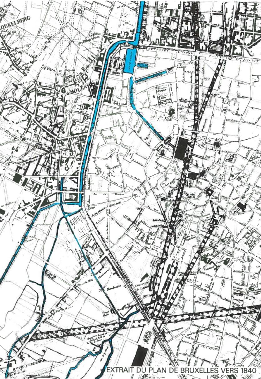 Histoire - Carte-canal-70-tonnes-BXL