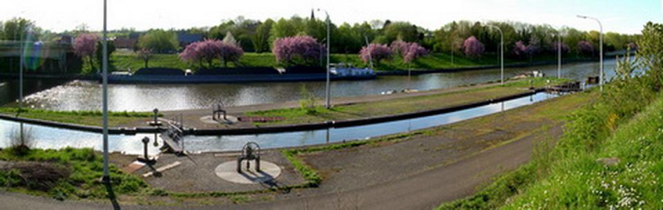 La connection avec l'ancien canal