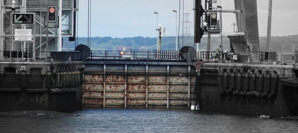 La vidange du pont canal