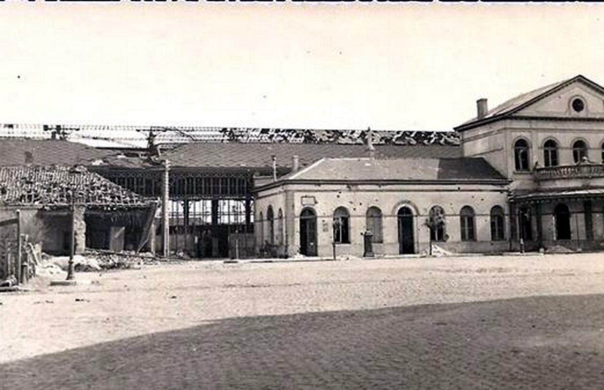 La gare sous les bombes